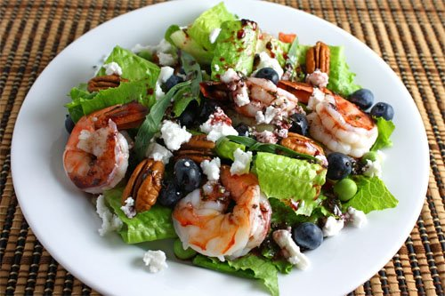 Shrimp and Blueberry Salad