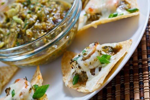 Cilantro Lime Shrimp Nachos