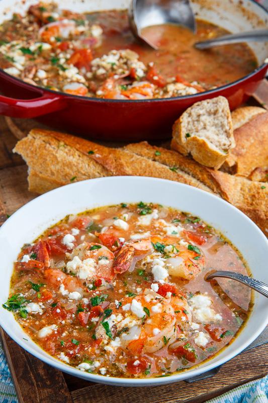 Shrimp and Feta Soup (aka Shrimp Saganaki Soup)