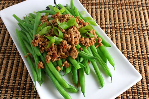 Green Beans with Sichuan Pork