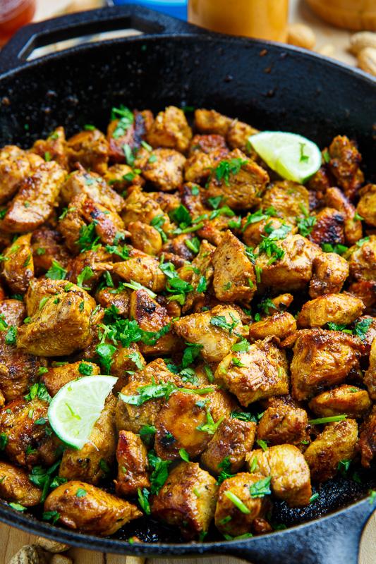Skillet Chicken Satay