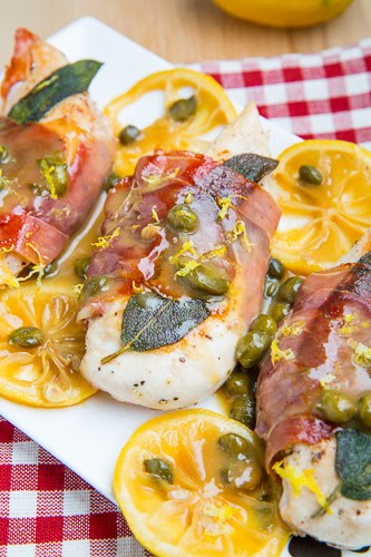 Skinny Chicken Saltimbocca