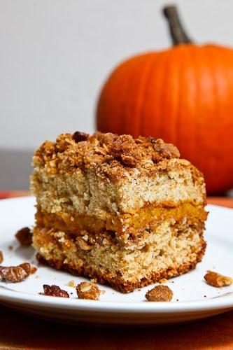 Sour Cream Pumpkin Coffee Cake