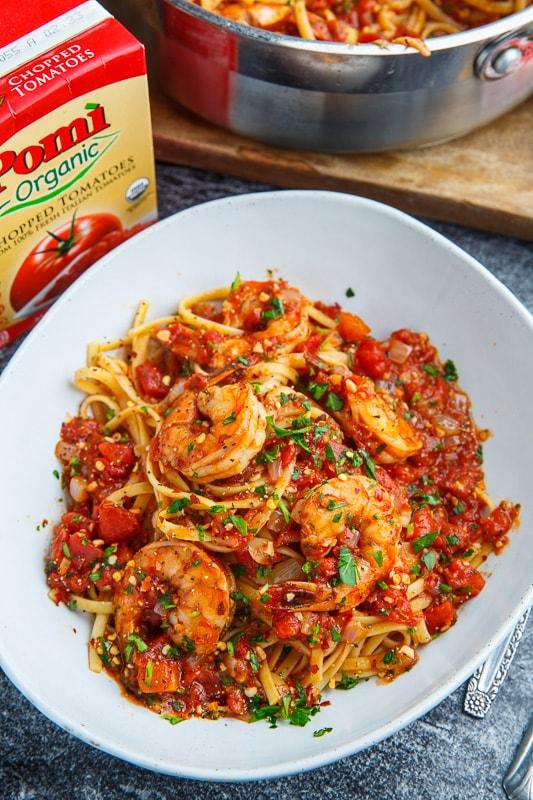 Spicy Garlic Shrimp Pasta