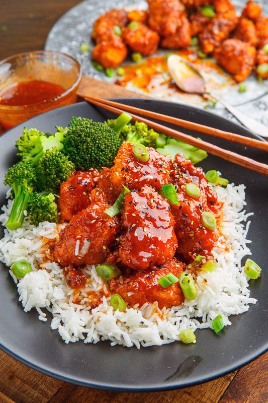 Sticky Honey Sriracha Chicken Bites
