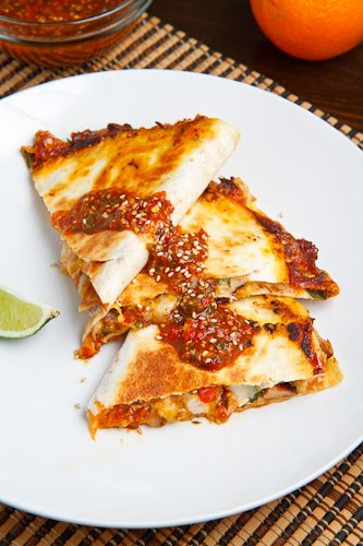 Sweet Chili Chicken Quesadilla