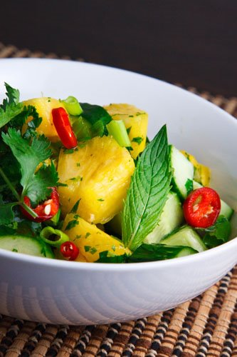 Thai Cucumber and Pineapple Salad