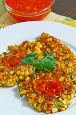 Thai Style Corn Fritters with Sweet Chilli Sauce