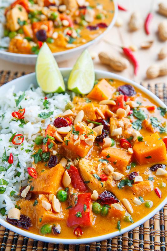 Thai Peanut Pumpkin Turkey Curry