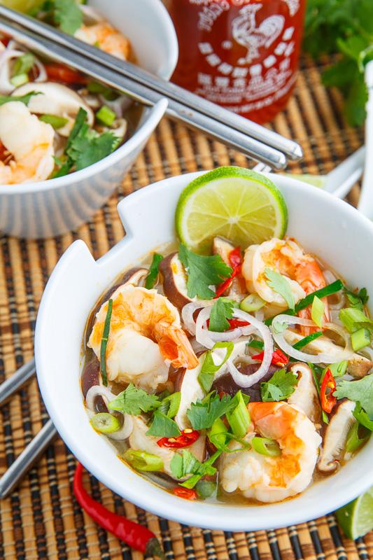 Tom Yum Goong Soup (Thai Hot and Sour Shrimp Soup)