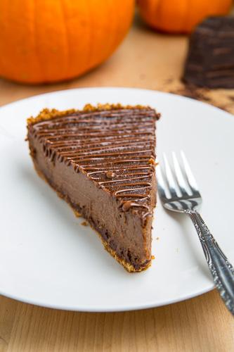 Triple Chocolate Pumpkin Pie