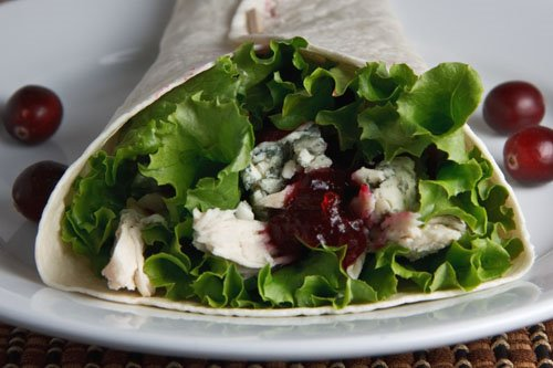 Turkey, Cranberry and Blue Cheese Wrap
