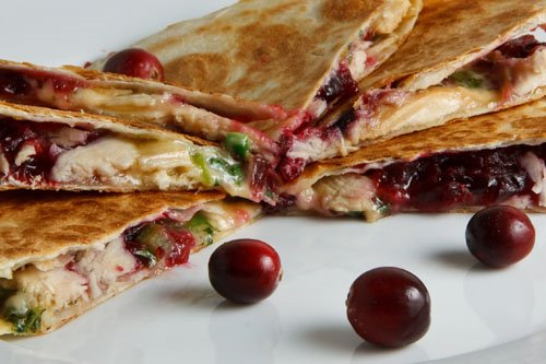 Turkey and Cranberry Quesadillas