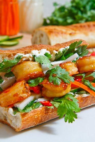 Vietnamese Caramel Shrimp Banh Mi