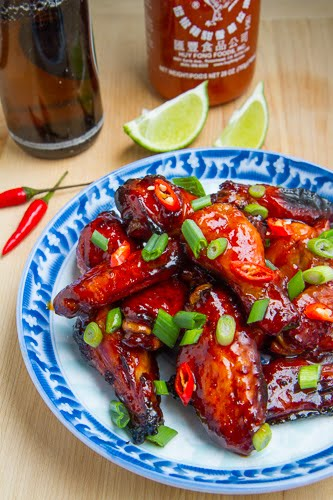 Vietnamese Style Spicy Caramel Chicken Wings