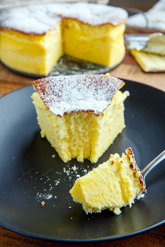White Chocolate Souffle Cheesecake