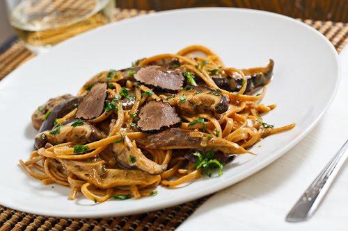 Wild Mushroom Pasta with Truffles