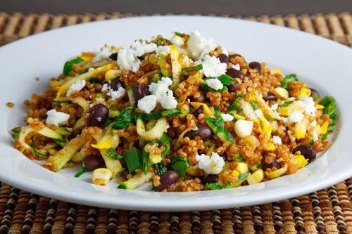 Zucchini and Corn Taco Seasoned Quinoa Salad