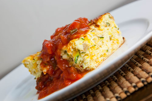 Zucchini and Green Chile Egg Breakfast Casserole