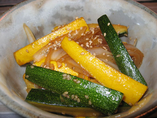 Zucchini and Onion Teriyaki