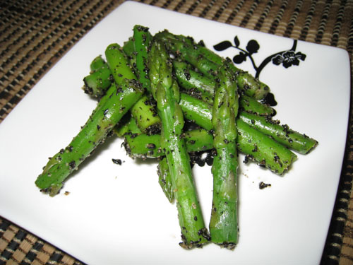 Asparagus with Black Sesame Paste
