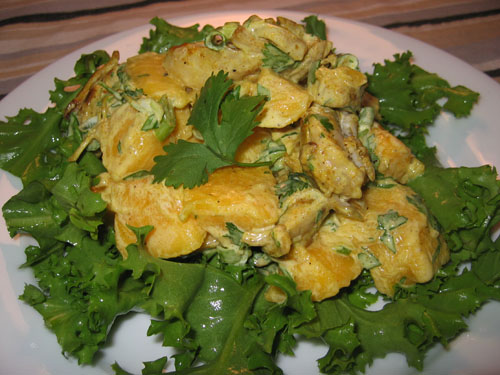 Chicken and Mango Curry Salad