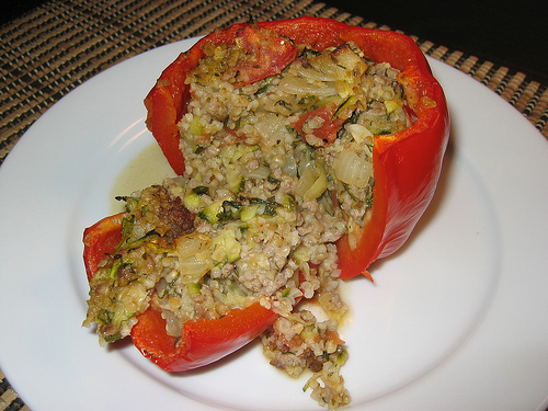 Lamb Stuffed Peppers (Greek Style)