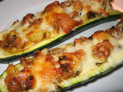 Zucchini Stuffed with Italian Sausage and Cheese