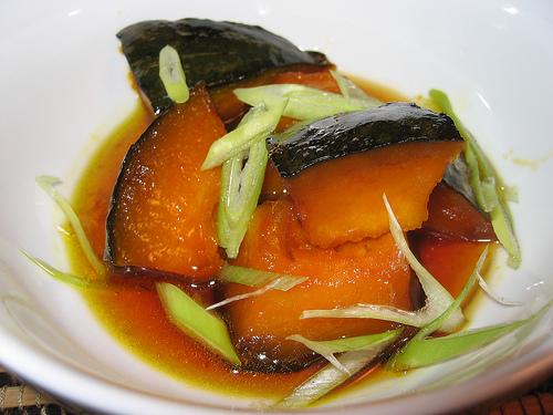 Kabocha Simmered in Caramel Sauce