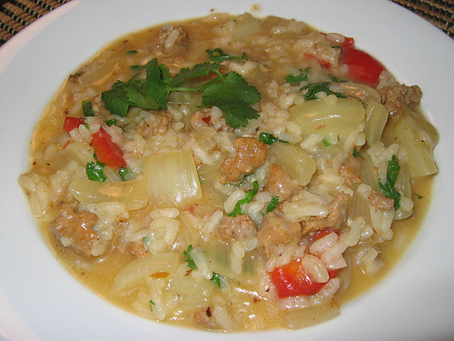 Italian Sausage and Fennel Risotto