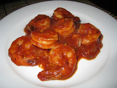 Camarones en Salsa (Shrimp in Salsa)
