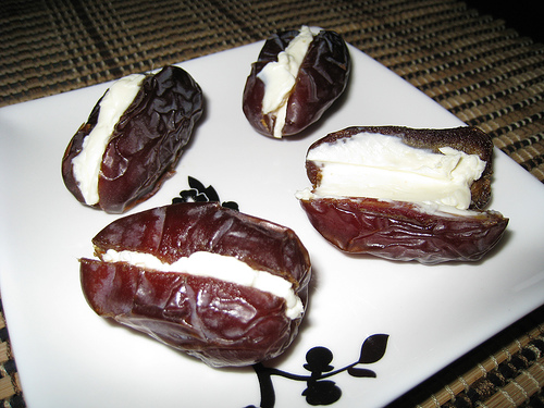 Dates Stuffed with Cream Cheese