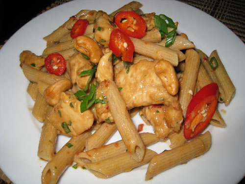 Cashew Butter Chicken Pasta