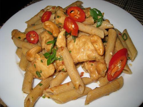 Cashew Butter Chicken Pasta