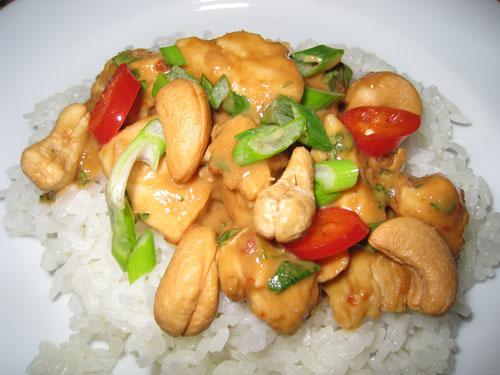 Cashew Butter Chicken on Rice