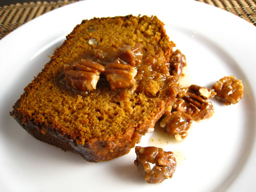 Sweet Potato Bread with Praline Sauce