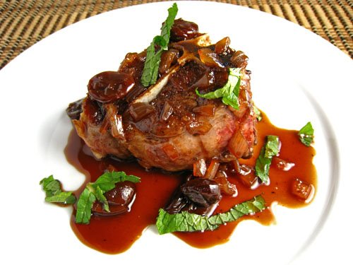 Lamb Chops in Cherry and Port Sauce