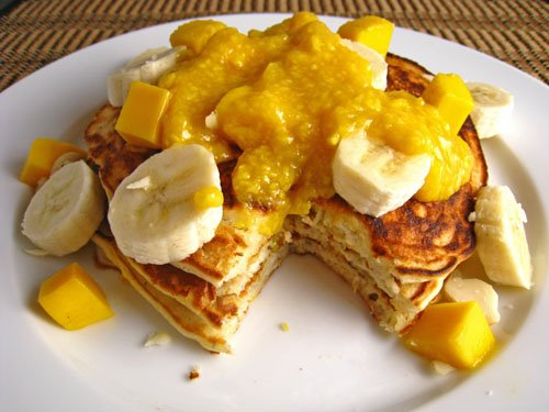 Mango and Banana Pancakes