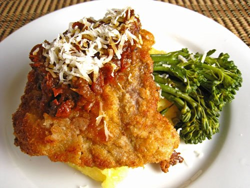 Veal Scallopini with Sundried Tomato Sauce