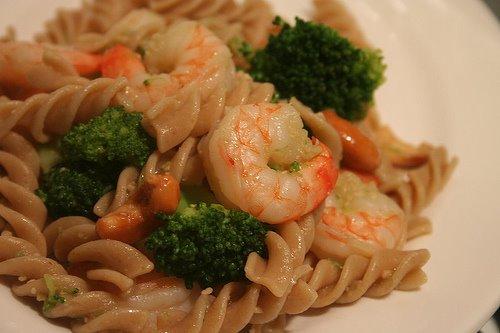 Ginger Soy Shrimp Fusili