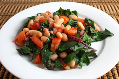 Swiss Chard and Cannellini Beans