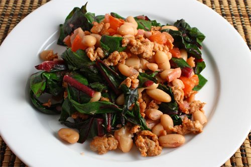 Swiss Chard, Cannellini Beans and Sausage