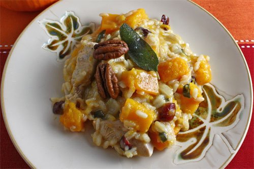 "Turkey and Squash ""Thanksgiving"" Risotto"