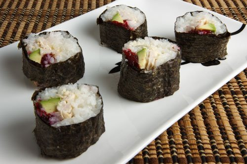 Turkey and Cranberry Sushi