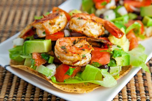 Chipotle Lime Shrimp Tostadas