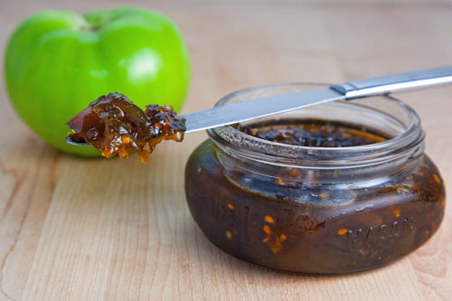 Green Tomato and Jalapeno Jam