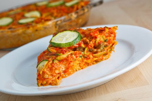 Zucchini And Kimchi Quiche With A Brown Rice Crust Closet Cooking