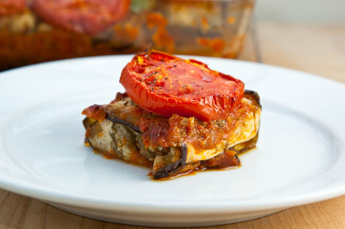 Eggplant Wrapped Kebabs Baked in Tomato Sauce