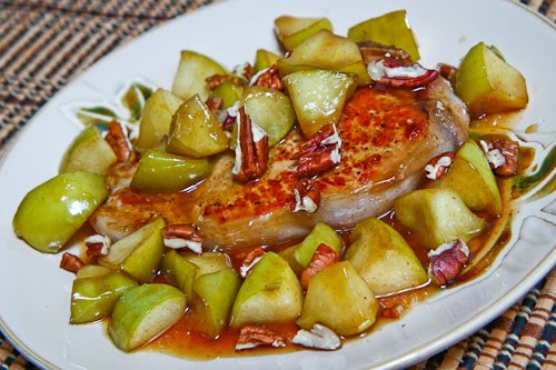 Caramel Apple Pork Chops