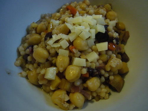 Chickpeas and Israeli Couscous (Risotto Style)